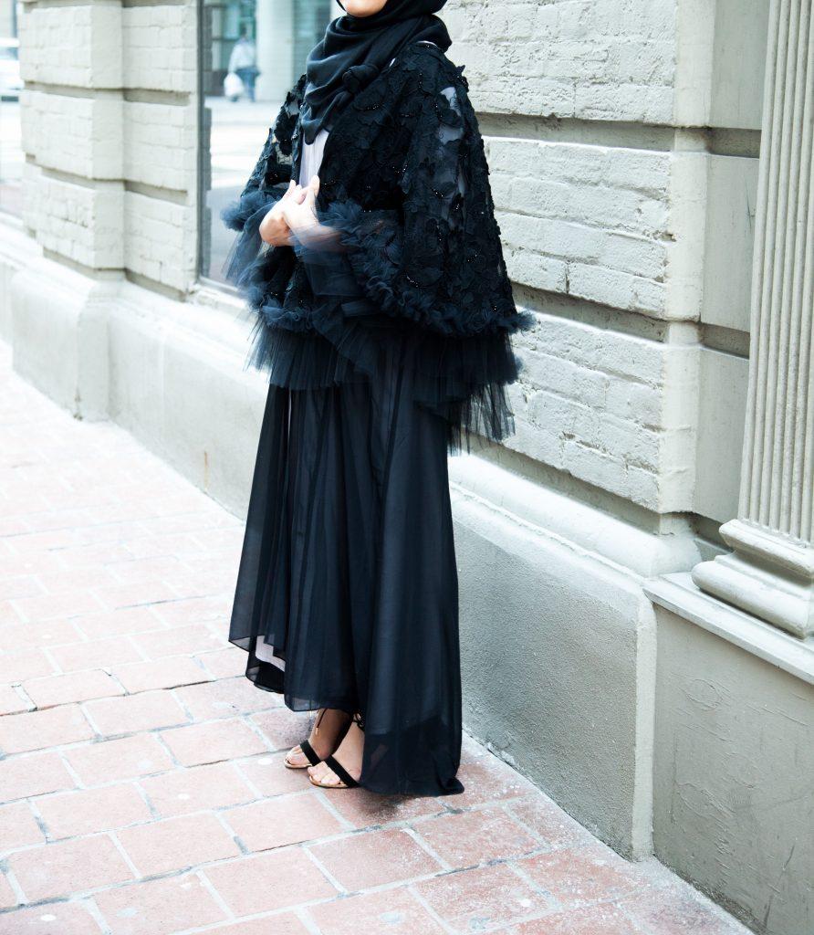 black ramadan abaya