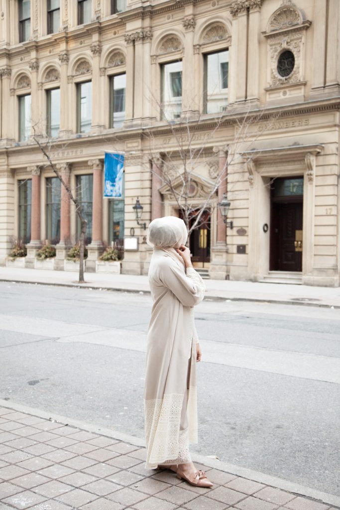 long cardigan hijab
